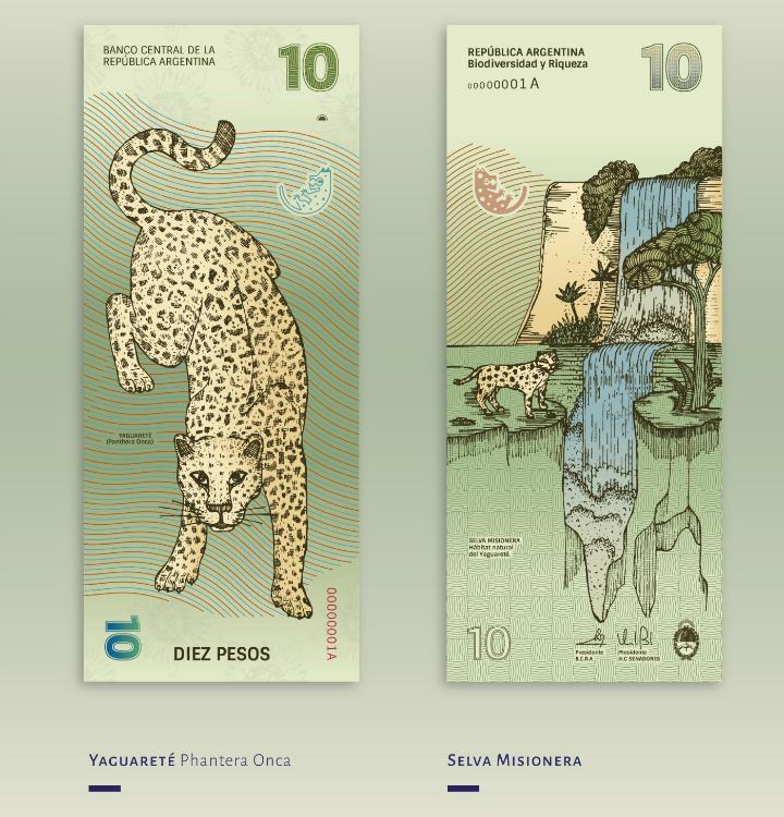 Billete de 10 pesos argentinos