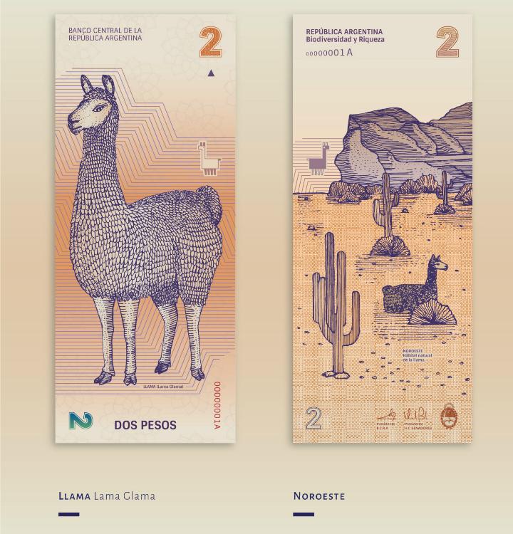 Billete de 2 pesos argentinos