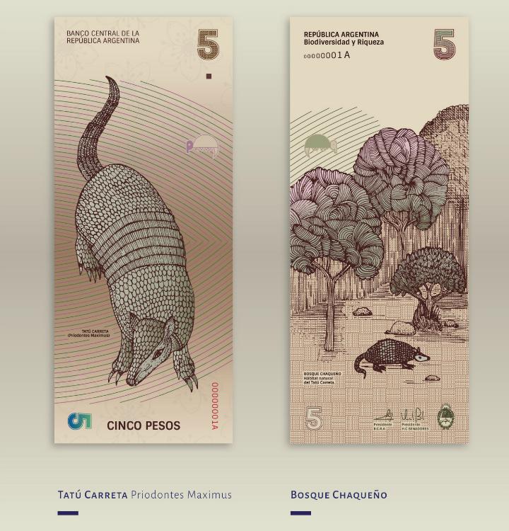 Billete de 5 pesos argentinos
