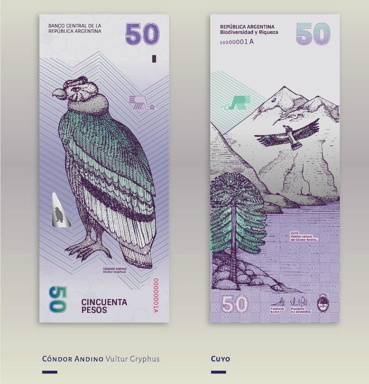 Billete de 50 pesos argentinos