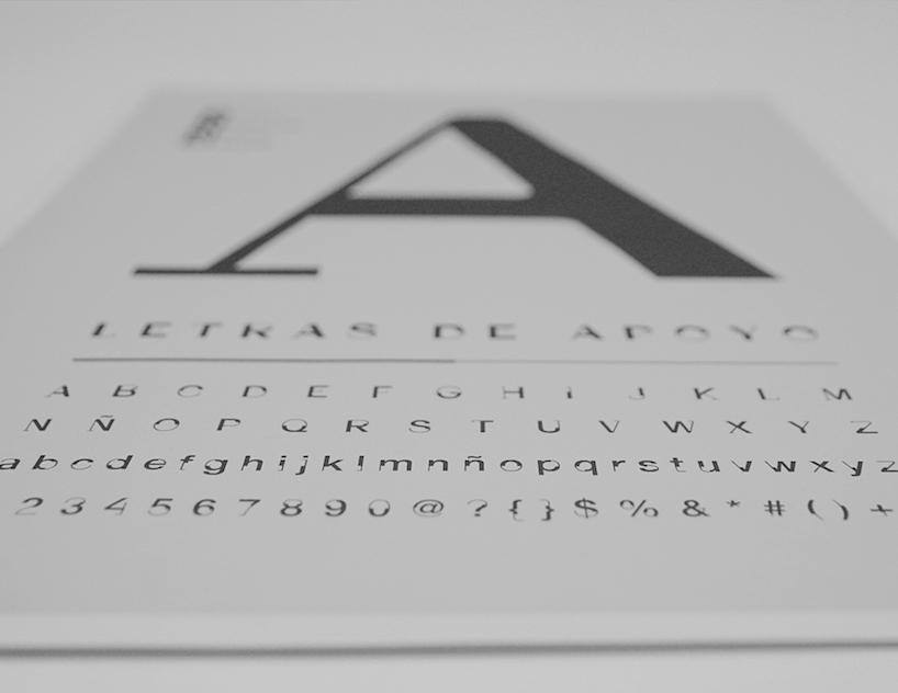 Letras de apoyo - tipografías contra minas antipersona