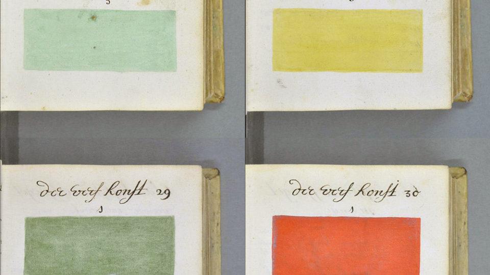 Han descubierto una copia de una guía similar a Pantone con fecha de 1692
