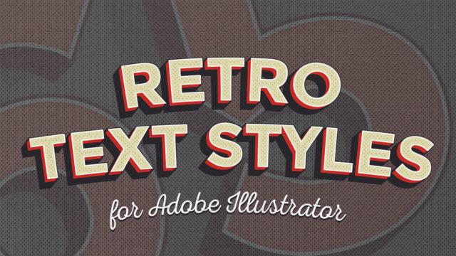 10 presets de Illustrator para estilos retro