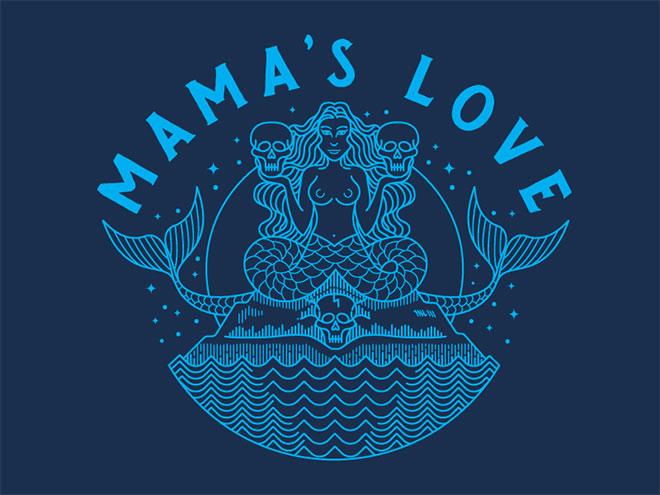 Mamas Love - Diseño lineal colorido