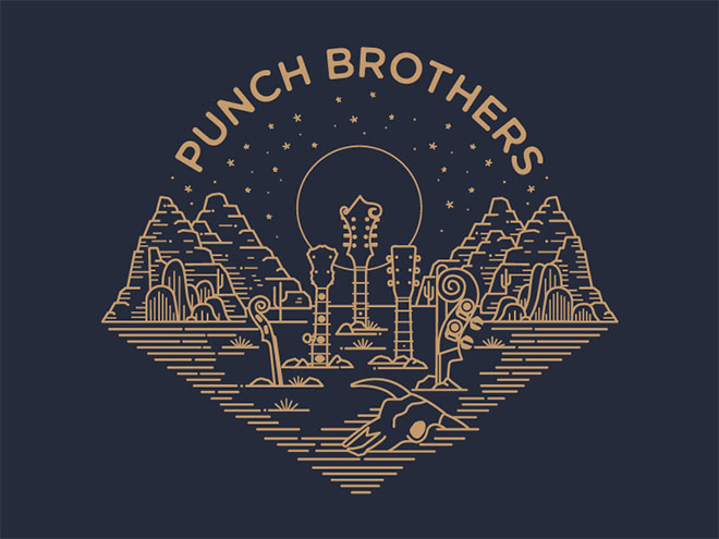 Punch Brothers - Diseño lineal colorido