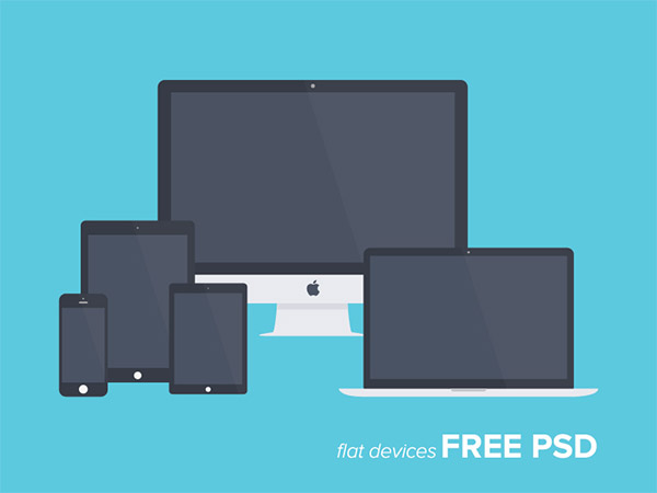 Flat Mockup - Showcase PSD