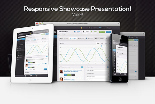 Showcase - Mockups PSD Dispositivos