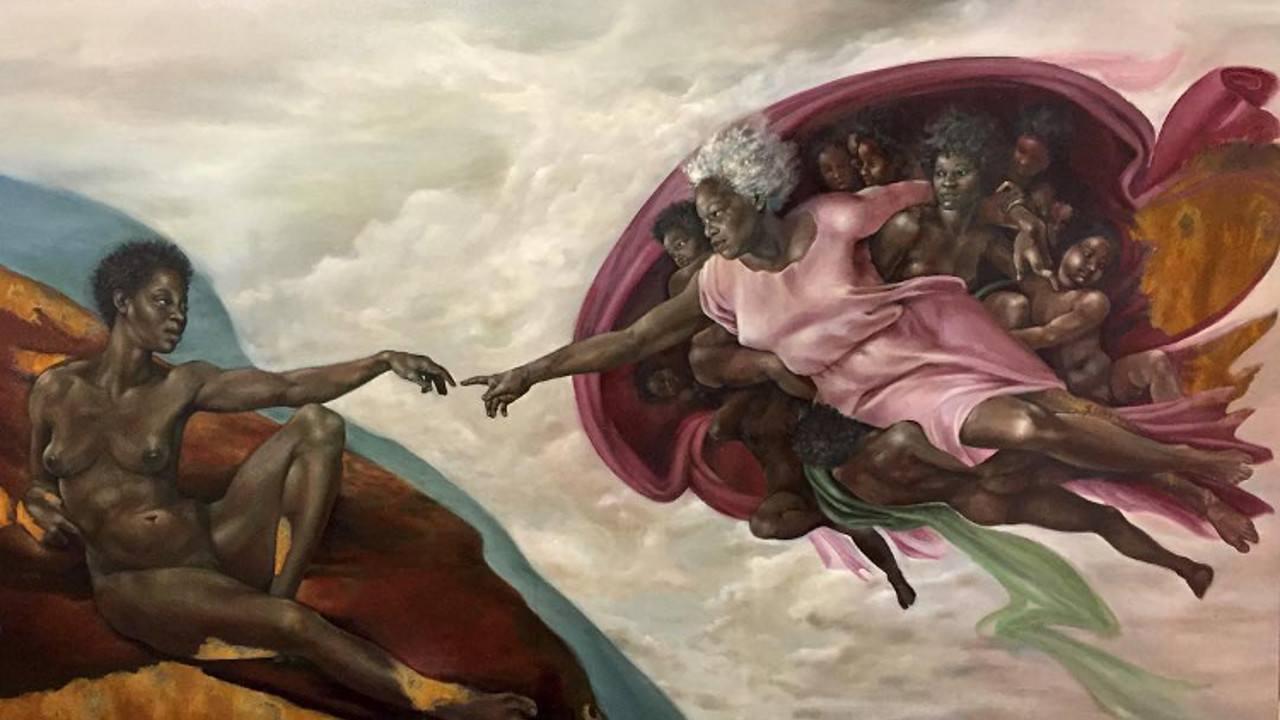 Una pintora cubana recrea obras de arte más clásicas