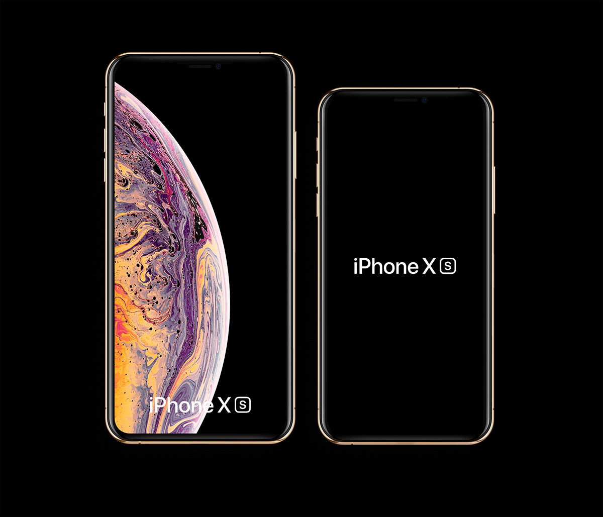 Mockup gratis de iPhone xS