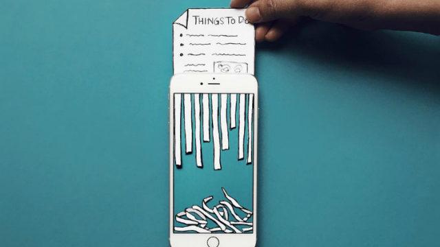 Recortes de papel y un iPhone… ¿Así se crea arte?