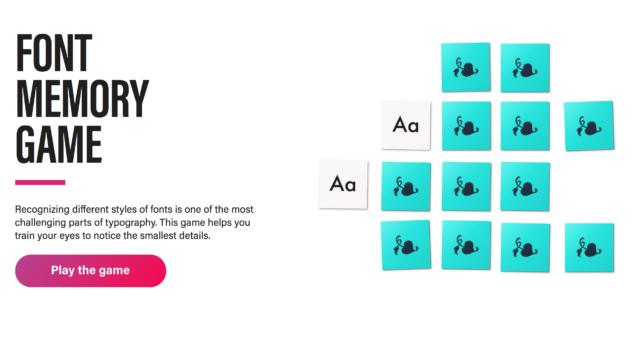 Font Memory Game: ¿qué tal con las tipografías?